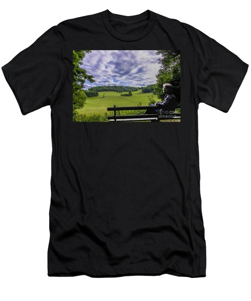 Contemplating The Beautiful Scenery Men's T-Shirt (Athletic Fit)
