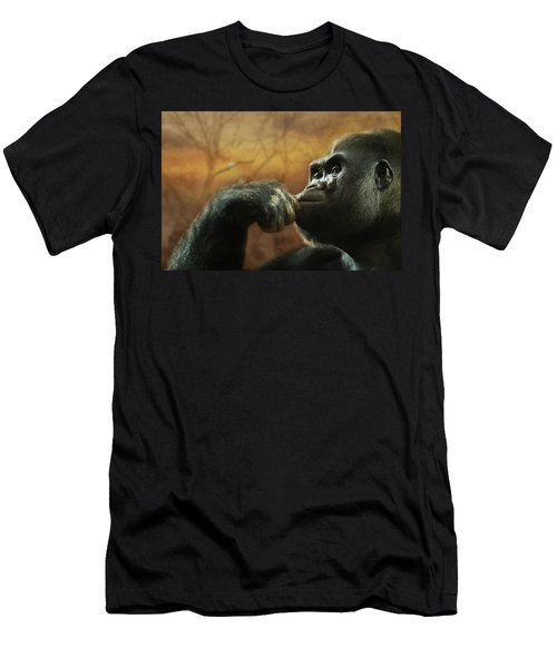 Men's T-Shirt (Slim Fit) featuring the photograph Contemplation by Lori Deiter