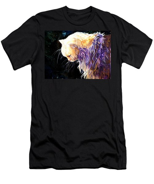 Men's T-Shirt (Slim Fit) featuring the painting Contemplation by Sherry Shipley