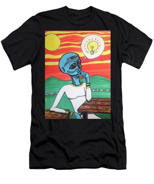 Contemplative Alien Men's T-Shirt (Athletic Fit)