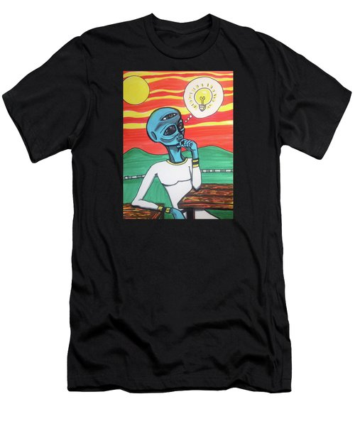 Contemplative Alien Men's T-Shirt (Athletic Fit)