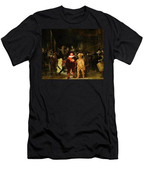 Contemporary 1 Rembrandt Men's T-Shirt (Slim Fit) by David Bridburg