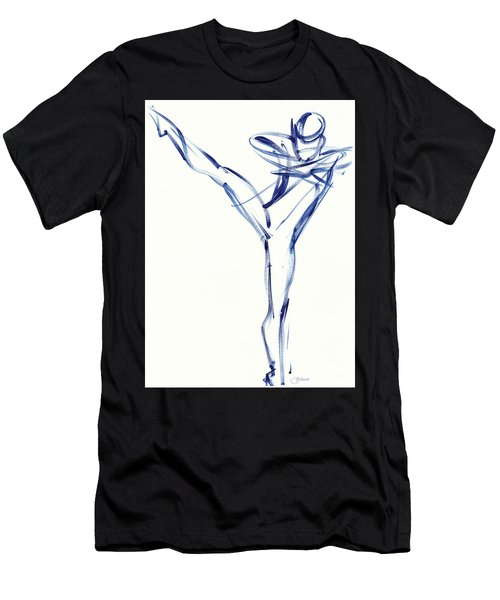 Contemporary Ballet Dancer, Blue Men's T-Shirt (Athletic Fit)