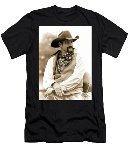 Men's T-Shirt (Athletic Fit) featuring the photograph Content In The Saddle by Jeanne May