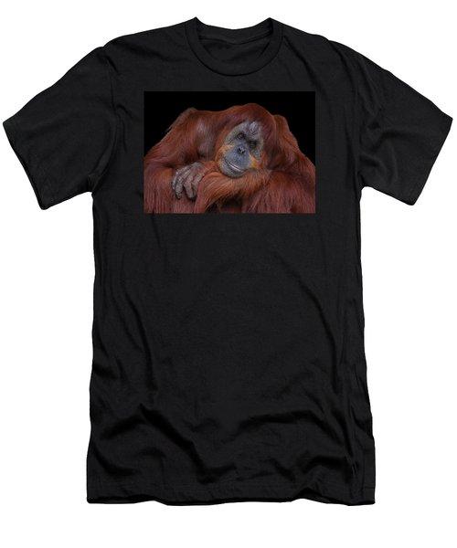 Contented Orangutan Men's T-Shirt (Athletic Fit)