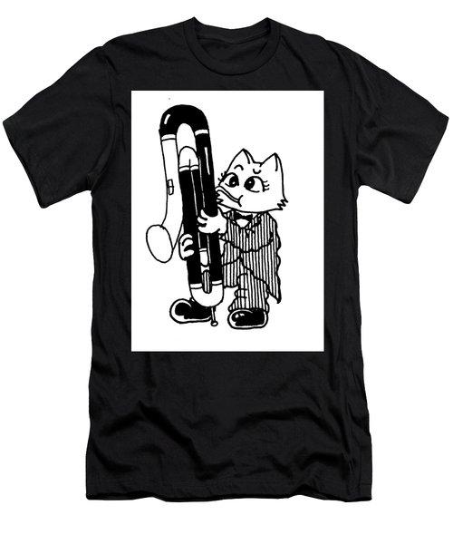 Contra Bassoon Cat Men's T-Shirt (Athletic Fit)