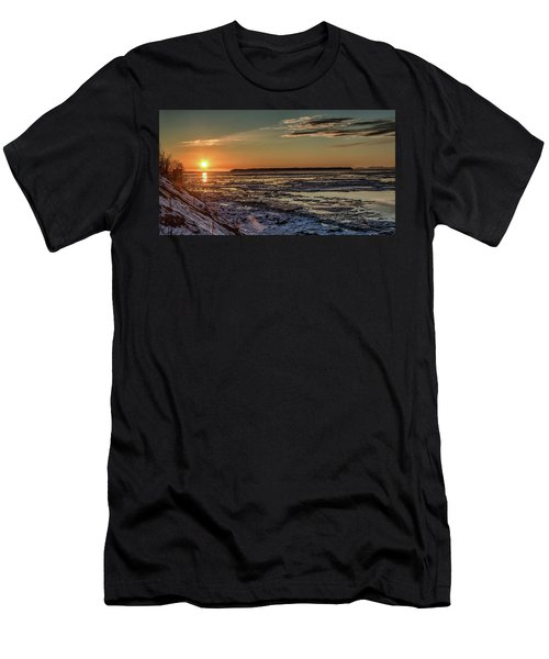 Cook Inlet Sunset Alaska  Men's T-Shirt (Athletic Fit)