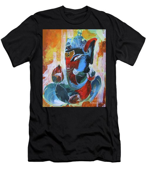 Cool And Graphical Lord Ganesha Men's T-Shirt (Athletic Fit)