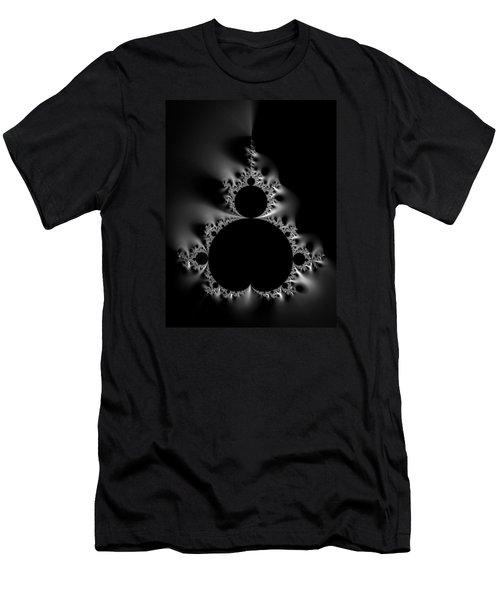 Cool Black And White Mandelbrot Set Men's T-Shirt (Slim Fit) by Matthias Hauser