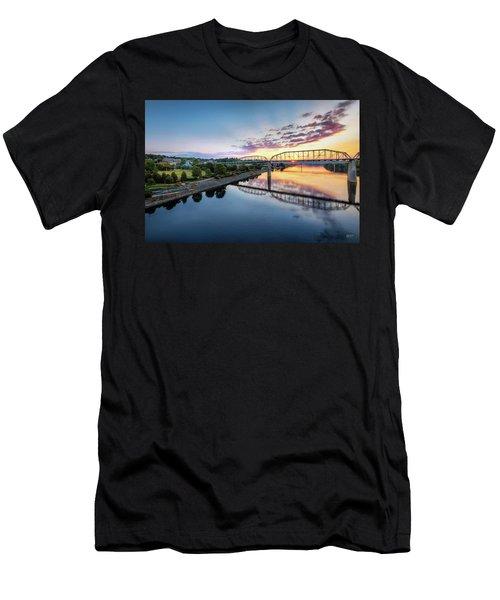 Coolidge Park Sunrise Men's T-Shirt (Slim Fit) by Steven Llorca
