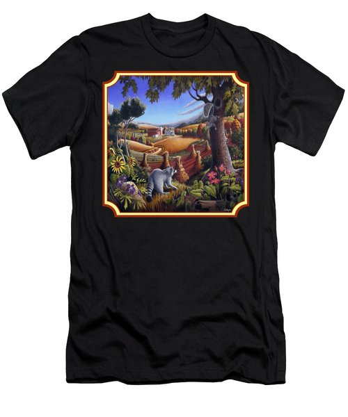Coon Gap Holler Country Landscape - Square Format Men's T-Shirt (Slim Fit) by Walt Curlee
