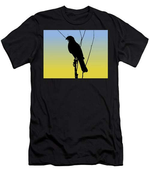 Coopers Hawk Silhouette At Sunrise Men's T-Shirt (Athletic Fit)