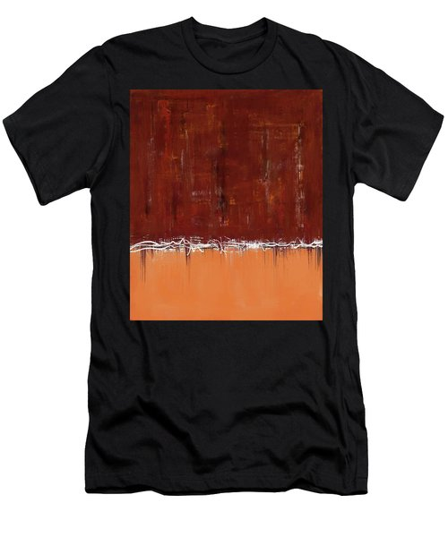 Copper Field Abstract Painting Men's T-Shirt (Athletic Fit)