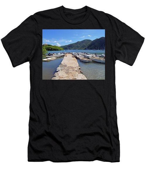 Coral Bay Dinghy Dock Men's T-Shirt (Athletic Fit)