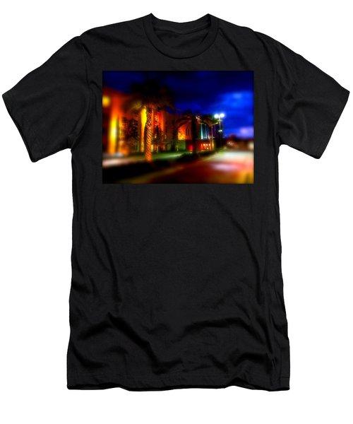 Coral Color Florida Men's T-Shirt (Athletic Fit)