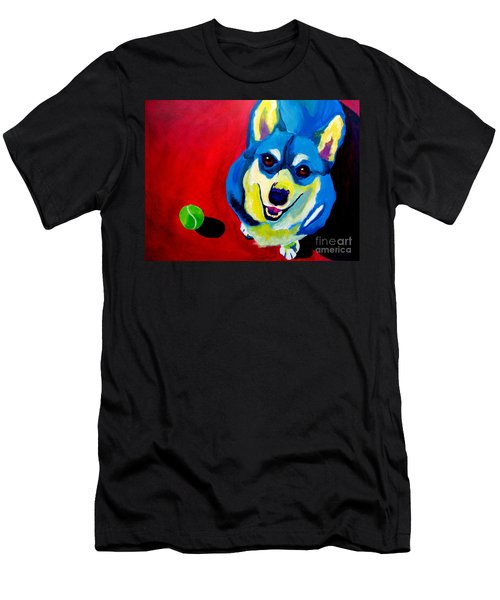 Corgi - Play Ball Men's T-Shirt (Athletic Fit)