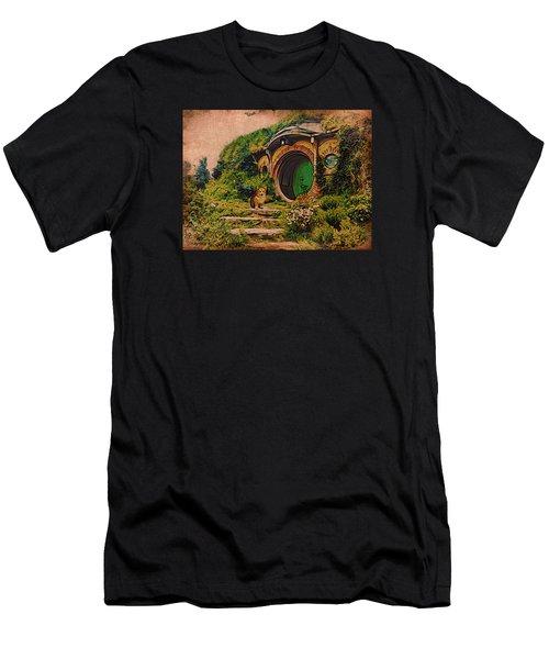 Corgi At Hobbiton Men's T-Shirt (Athletic Fit)
