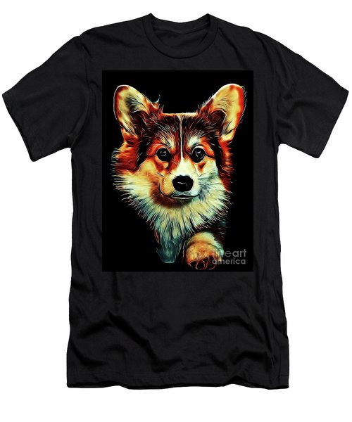 Corgi Portrait Men's T-Shirt (Athletic Fit)