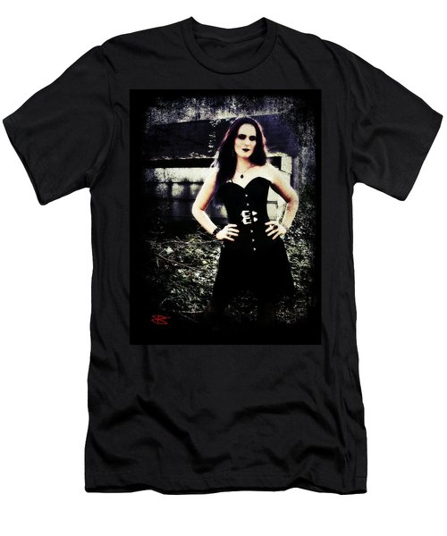 Men's T-Shirt (Slim Fit) featuring the digital art Corinne 1 by Mark Baranowski