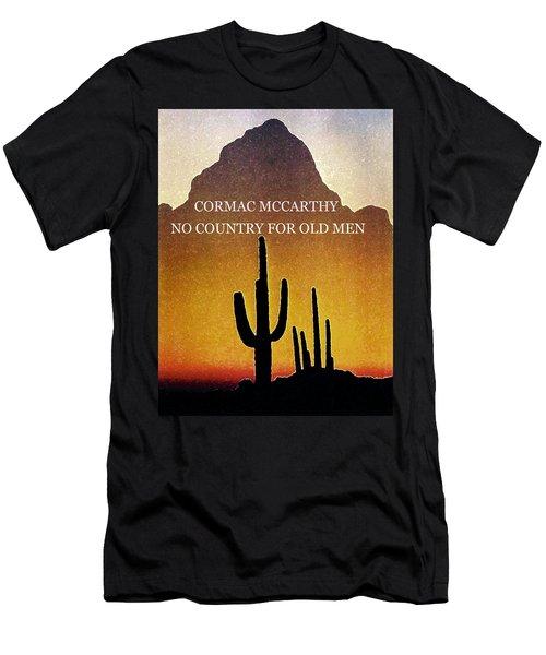 Cormac Mccarthy Poster  Men's T-Shirt (Athletic Fit)