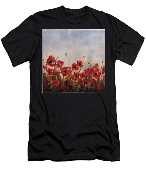 Corn Poppies In Remembrance Men's T-Shirt (Athletic Fit)