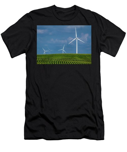 Corn Rows And Windmills Men's T-Shirt (Athletic Fit)