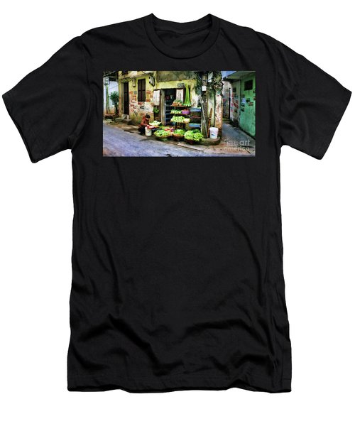Corner Fresh Veggies Vietnam  Men's T-Shirt (Slim Fit) by Chuck Kuhn