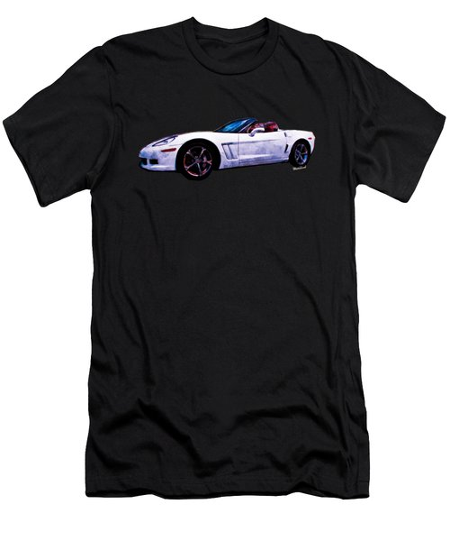 Corvette Convertible Pen And Watercolor Men's T-Shirt (Athletic Fit)