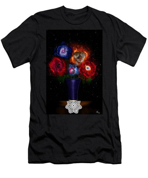 Cosmic Bouquet Men's T-Shirt (Athletic Fit)
