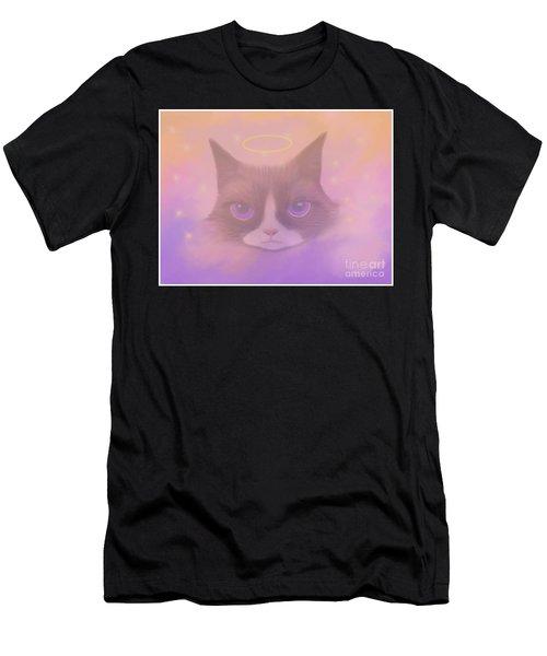 Cosmic Cat Men's T-Shirt (Athletic Fit)