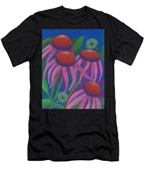 Cosmic Coneflowers Men's T-Shirt (Athletic Fit)