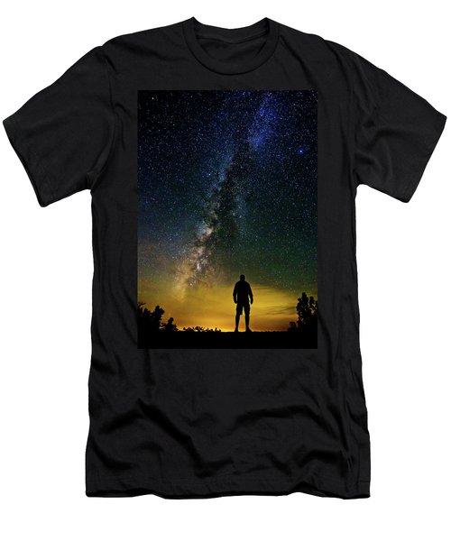 Cosmic Contemplation Men's T-Shirt (Athletic Fit)