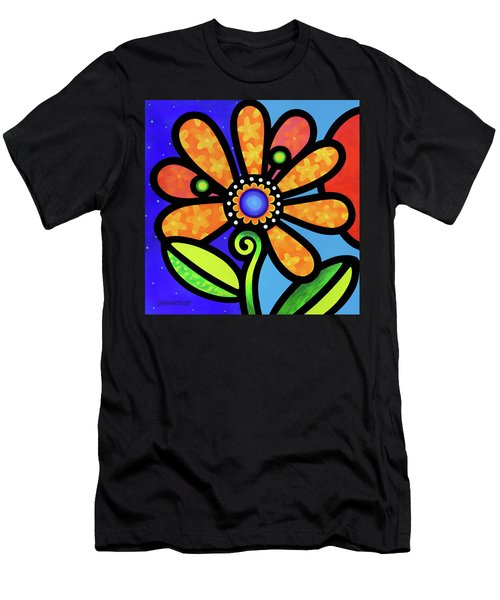 Cosmic Daisy In Yellow Men's T-Shirt (Athletic Fit)