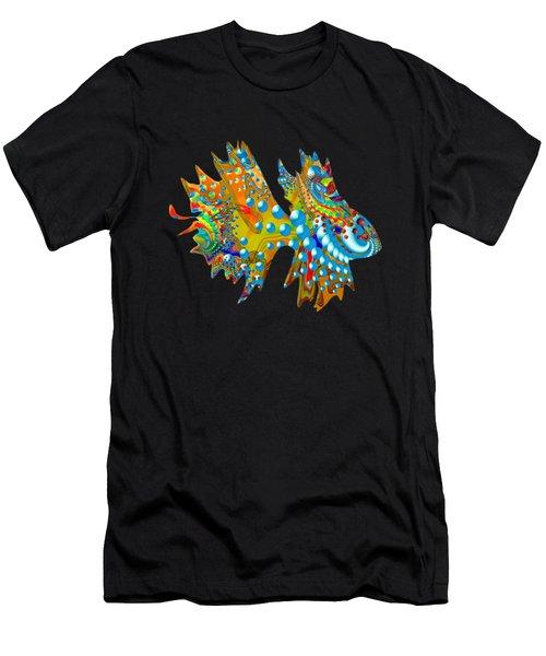 Cosmic Guppy Men's T-Shirt (Slim Fit) by Deborah Runham