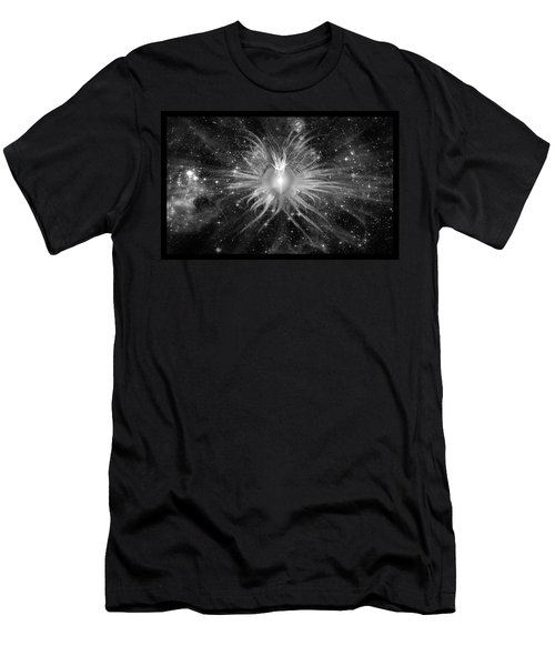 Cosmic Heart Of The Universe Bw Men's T-Shirt (Athletic Fit)