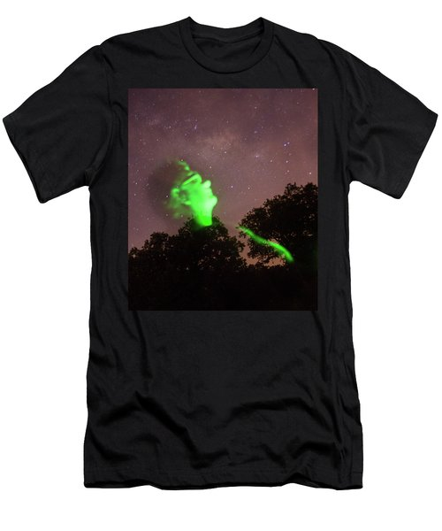 Cosmic Selfie In Green Men's T-Shirt (Athletic Fit)