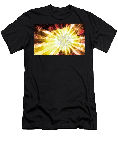 Cosmic Solar Flower Fern Flare 2 Men's T-Shirt (Athletic Fit)