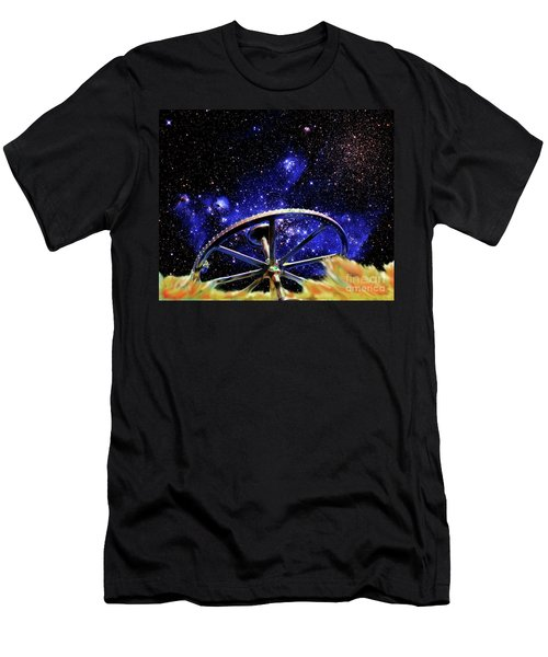 Men's T-Shirt (Slim Fit) featuring the photograph Cosmic Wheel by Jim and Emily Bush