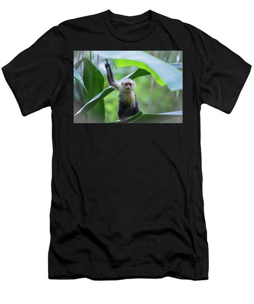 Costa Rica Monkeys 1 Men's T-Shirt (Athletic Fit)