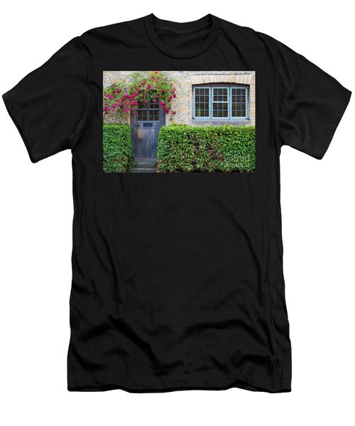 Men's T-Shirt (Slim Fit) featuring the photograph Cotswolds Cottage Home by Brian Jannsen