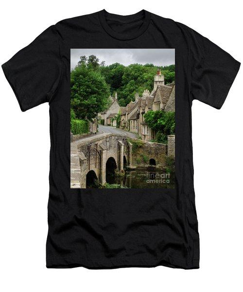 Cotswolds Village Castle Combe Men's T-Shirt (Slim Fit) by IPics Photography