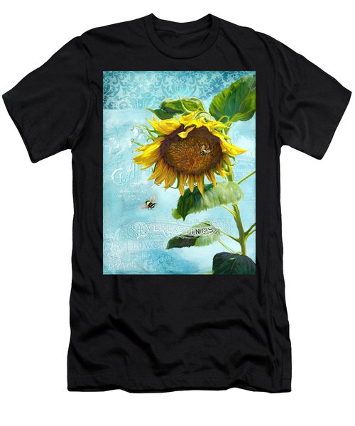 Cottage Garden Sunflower - Everlastings Seeds N Flowers Men's T-Shirt (Athletic Fit)