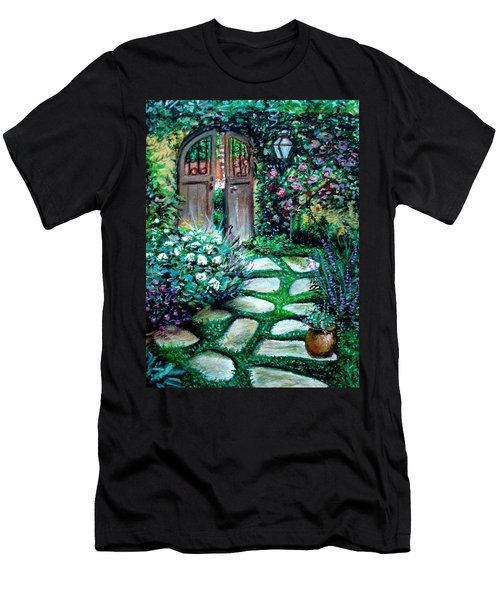 Cottage Gates Men's T-Shirt (Athletic Fit)