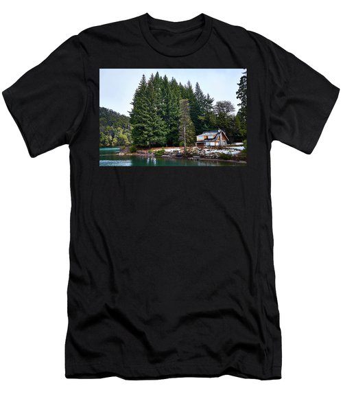 Little Cottage And Pines In The Argentine Patagonia Men's T-Shirt (Athletic Fit)