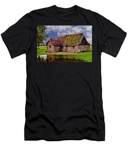 Cottage In The Highlands Men's T-Shirt (Slim Fit) by Anthony Dezenzio