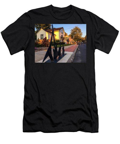 Cottage Street Guitars Men's T-Shirt (Athletic Fit)