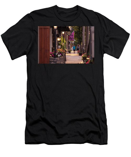 Cottage Street Stroll Men's T-Shirt (Athletic Fit)