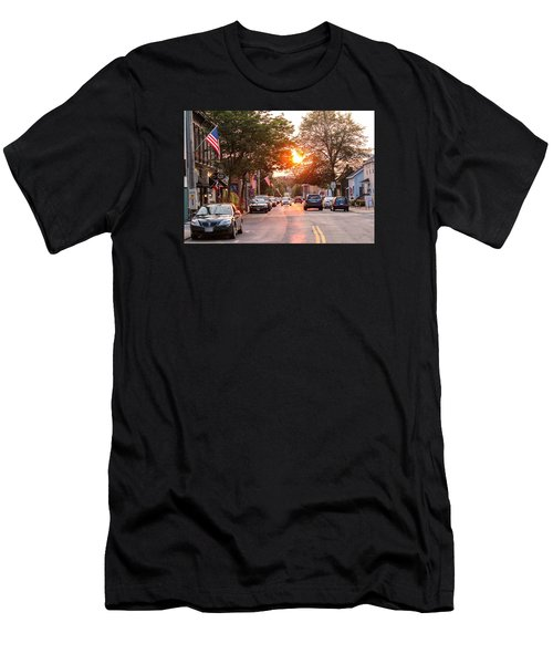 Cottage Street Summer Sunset Men's T-Shirt (Athletic Fit)