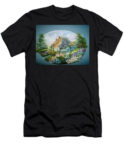 Cottage Vignette Men's T-Shirt (Athletic Fit)