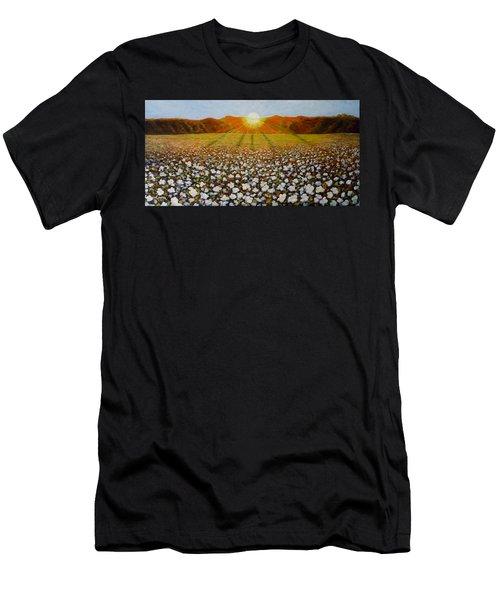 Cotton Field Sunset Men's T-Shirt (Athletic Fit)